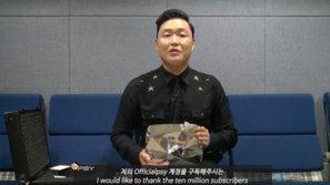 PSY là nghệ sĩ châu Á đầu tiên nhận được nút Kim cương từ Youtube