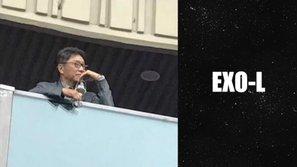 Lộ ảnh Lee Soo Man uống rượu trong concert EXO, cư dân mạng tò mò về... phản ứng của EXO-L