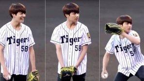Jungkook được khen vì ném bóng khai mạc với tốc độ kinh ngạc
