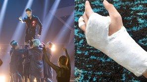 Bị gãy tay, S.T vẫn nhảy cực sung trên sân khấu Bạn là ngôi sao