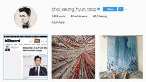 T.O.P đã dùng Instagram lại sau scandal hút cần sa
