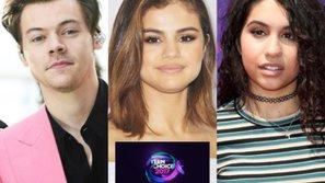 Harry Styles, Selena Gomez và Alessia Cara dẫn đầu đề cử âm nhạc của Teen Choice Awards 2017