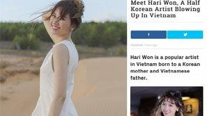 Lùm xùm động chạm cô dâu Việt chưa kịp lắng, Hari Won lại được trang tin uy tín của Hàn ca ngợi