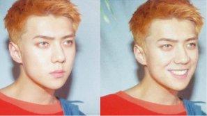 """Hài hước: Thấy EXO chụp hình quá nghiêm túc, một fan edit ảnh """"buộc"""" các thành viên phải cười toe toét"""