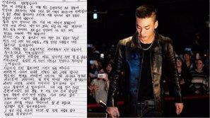 Iron viết thư tay xin lỗi người hâm mộ