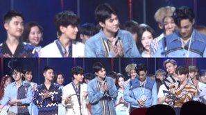 """Khoảnh khắc bối rối nhất lịch sử KPOP: Taeyeon (SNSD) """"lạnh mặt"""" đứng sau bạn trai cũ Baekhyun (EXO)"""