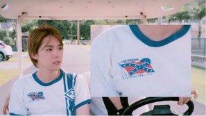 Jinwoo (WINNER) là cái tên tiếp theo 'bị' stylist cho diện chiếc áo gây tranh cãi