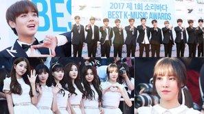 Thảm đỏ Soribada Best K-Music Awards 2017: Wanna One cực bảnh trai, GFriend xinh đẹp lộng lẫy cùng