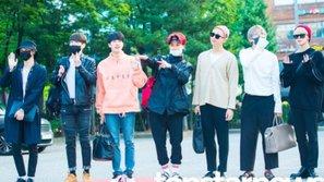 Dàn sao Kpop khoe dáng rạng rỡ trên đường đến Music Bank