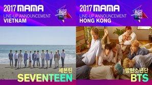 HOT: SEVENTEEN là cái tên thứ 2 tham gia MAMA 2017 tại Việt Nam, EXO và BTS xác nhận xuất hiện tại Hồng Kông