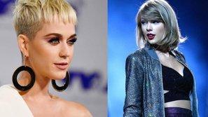 Oan gia ngõ hẹp, Katy Perry 'chạm trán' Taylor Swift tại Victoria's Secret Fashion Show 2017