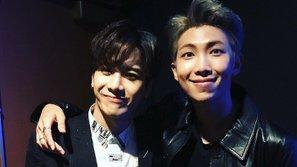 Jackson (GOT7) và Rap Monster (BTS) vai kề vai thân thiết khi tham dự AMAs 2017