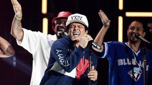 'Nấm lùn' Bruno Mars thắng giải quan trọng nhất tại American Music Awards 2017