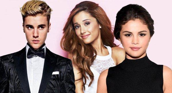 Ariana Grande, Justin Bieber và Selena Gomez