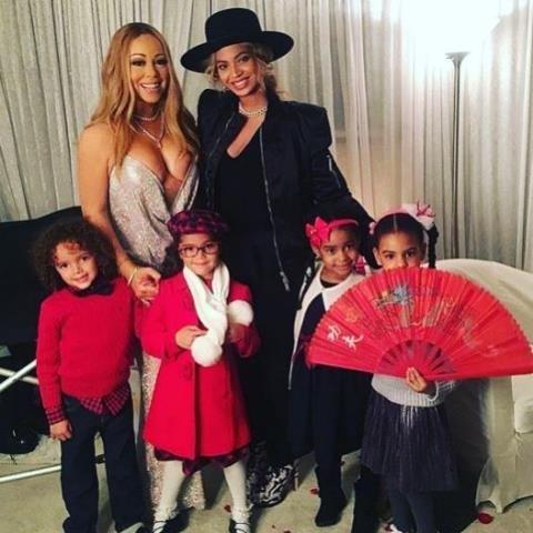 Mariah Carey và Beyonce gây 'bão mạng' khi cùng khoe con xinh