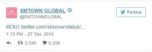 Top 10 tài khoản Twitter của các idol Kpop được nhắc đến nhiều nhất trong năm 2016