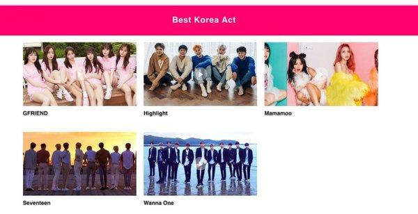 MTV EMA 2017 công bố đề cử Best Korean Act