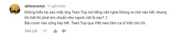 fan việt khen ngợi teen top hát tiếng việt 2