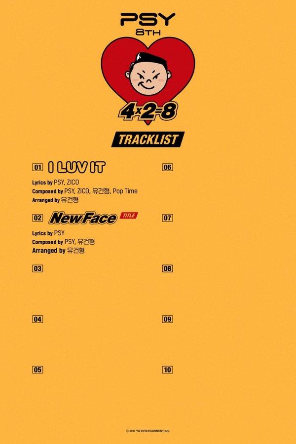track list album mới PSY