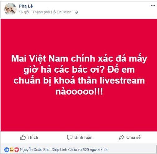Dòng trạng thái gây bão mạng xã hội của nữ ca sĩ Pha Lê
