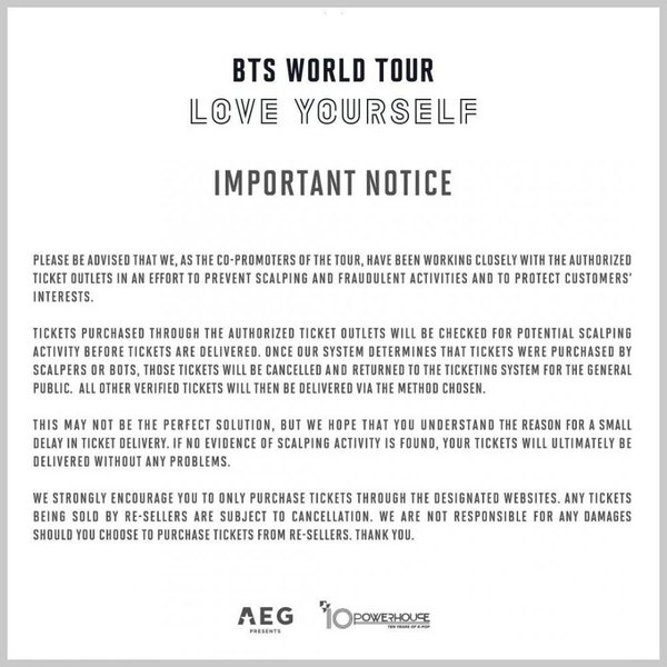 BTS World Tour 2018