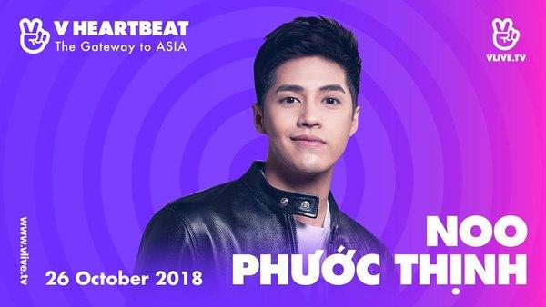 Noo Phước Thịnh tham dự V Heartbeat tháng 10