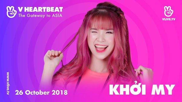 Khởi My tham dự V Heartbeat tháng 10