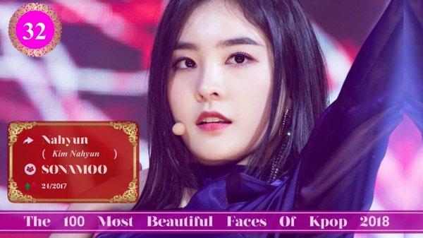 100 idol nữ xinh đẹp nhất Kpop 2018