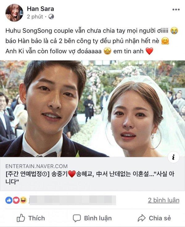 Han Sara sốc trước thông tin Song Joong Ki ngoại tình